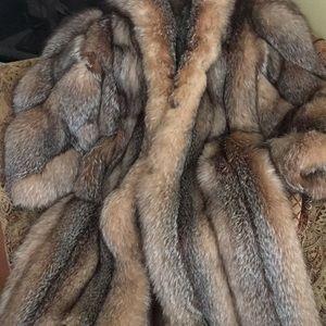 """Ladies Full Length """"Silver Fox"""" Fur Coat"""